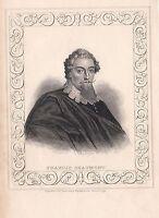1840 Viktorianisch Aufdruck ~ Porträt Von Francis Beaumont