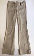 Banana Republic Women's Martin Fit Dress Pants Size 0 Stripe Fit Flare Beige