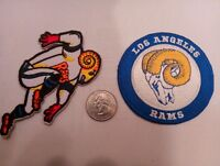 """(2)  Los Angeles RAMS EMBROIDERED vintage IRON ON PATCHES PATCH LOT 3"""" x 3"""""""