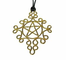 Pentacle Pendant Necklace Bronze Brass Wicken Charm Holder Pentagram USA Made