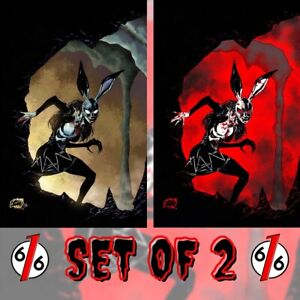 🚨🐰😱 BUNNY MASK #2 FRANCK UZAN Virgin Set With Bloody Variant LTD 300 NM