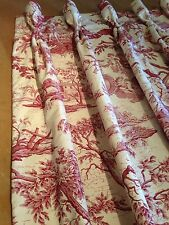 Marvic Textiles La Chasse Toile Goblet Pleat Curtains Made To Measure