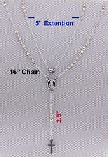 """Rosary Necklace.High Quality 16""""+5"""" 316 Stainless Steel 2 tone(Yellow,White) R42"""