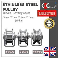 More details for stainless steel pulley h u v groove shape roller wheel idler pulley wheel large