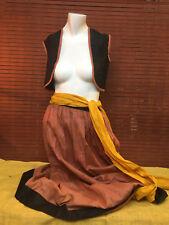 antique halloween costume 1920s pirate swashbuckler vest skirt belt headscarf S