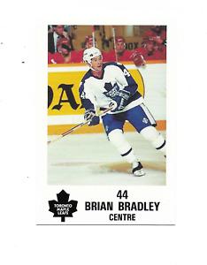 1991-92 Maple Leafs PLAY #3 Brian Bradley Toronto Maple Leafs