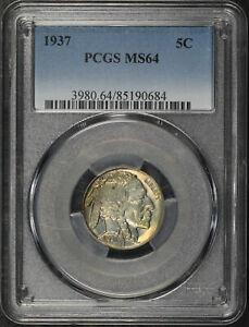 1937 Buffalo Nickel PCGS MS-64