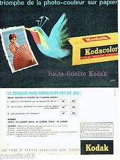PUBLICITE ADVERTISING 056  1962  les  films  Kodacolor de Kodak