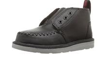 Toms Boys Black Leather Chukka Boot Sz 6T 5169