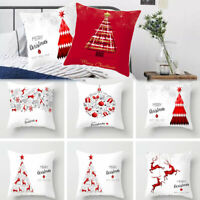 Cushion Cover Christmas Pillow Cases Pillow Covers Polyester Pillowcase