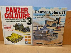 Panzer Colours Books x2