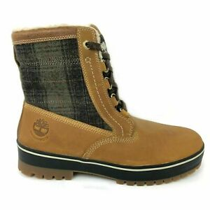 TIMBERLAND MEN'S SPRUCE MOUNTAIN WHEAT PLAID WATERPROOF INSULATED BOOTS 6900B