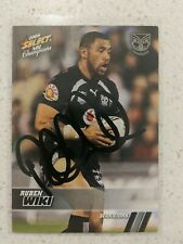 ✺Signed✺ 2008 Select Champions Ruben Wiki (Warriors) NRL Rugby League card