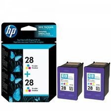 PACK OF 2 ORIGINAL HP 28 COLOUR CARTRIDGES C8728AE 2 YEAR GUARANTEE FAST POSTAGE