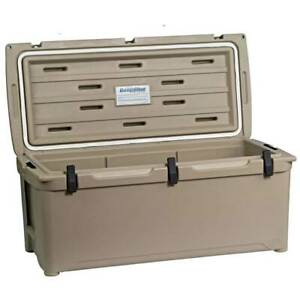 Engel High Performance Roto Molded Airtight 130 Can Ice Cooler, Tan (Used)