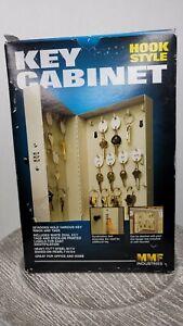 SteelMaster Hook-Style Key Cabinet 28-Key Holders Steel Tan MMF Combination Lock