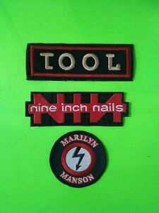 Vintage Rock Band Patches - Tool - NIN - Marilyn Manson - Early 90s