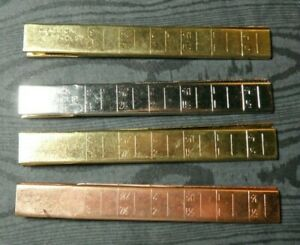 Chadwick's Measure Clip Hemmer Set of 4 Colored Aluminum No Pin Sewing Notions