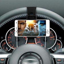"Car Mount Holster Clip On Steering Wheel iPhone 4.7"" Samsung Phone Holder Black"