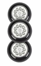 9 LED Wireless Mini Stick On Touch Light, 10 Inch, Black, 3 Pack