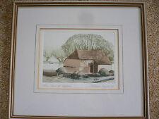 Michael Chaplin R.E. Signed Limited Edition Print. Barn at Headcorn,Maidstone