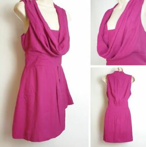 French Connection Pink Sleeveless Cowl Neck Wedding Occasion Party Dress size 12