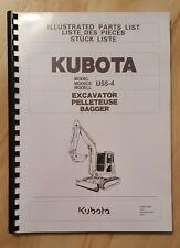 Ersatzteilliste / Stückliste für Kubota U55-4