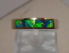 Brilliant Mens  Australian Gem Opal Ring  5.9 grams 14k Yellow Gold size 12 1/4