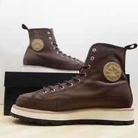 Converse CT Crafted Boot HI Men's Size 9 Chocolate Leather Chuck Taylor