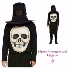 Skeleton Skull Halloween Jumbo Face Costume Horror TV Men Unisex