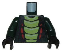 LEGO NEW DARK GREEN MINIFIGURE TORSO SNAKE SKIN PATTERN HALLOWEEN PATTERN