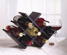 Bottle Holder Wine Rack Bar Storage Decor Wood Kitchen Home Wall Display Glass