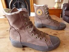 womens suede CONVERSE ankle boots - size uk 5 great condition & rare !