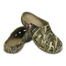 NWT Crocs Realtree Max-5 Freesail Clogs, Women's Size 10 Khaki/Camouflage