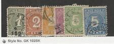 Netherlands Indies, Postage Stamp, #17-22 Used, 1883-90