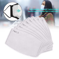 100x Replacement Adult PM2.5 Activated Carbon Filter Paper Pad For Face Cover