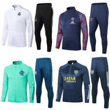 New Adult Mens Football Soccer Tracksuit Top& Pants Sportwear Training Suit