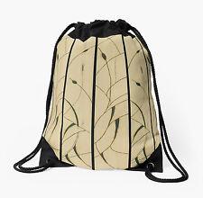 DRAWSTRING BACKPACK SHOULDER BAG w/Exclusive Solar Etched Design ~ 'Cattails'