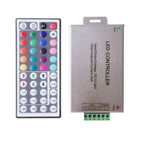 DC 12A 44Key IR Remote Music Controller For RGB SMD 5050 3528 LED Strip-Lights