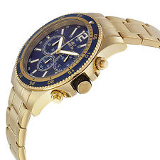 New Mens Invicta 13978 Chronograph Gold Tone Bracelet Watch