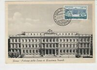 Italy 1957 Anniv. of Italian Postal System Building Stamps Card ref  22445