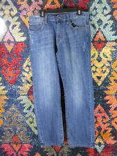 Lucky Brand mens dark distressed 221 original straight jeans 34x30 EUC
