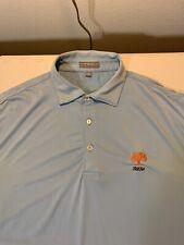 Men's Peter Millar Summer Comfort Oak Tree National Polo Shirt Size M Blue