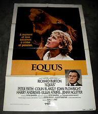 Equus, Richard Burton vintage original 1977 one-sheet 27x41 horses drama