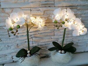 LED Pflanze,Künstlich,Orchidee,Gesteck,Geschenk,Dekoration mit Licht