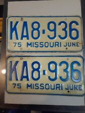 1975 (1pr)  Missouri License Plate (KA8-936)