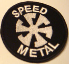 Speed Metal patch embroidered Banzai Records Celtic Frost, Exciter, Sortilège