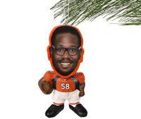 Denver Broncos NFL Von Miller #58 Resin Flathlete Christmas Ornament
