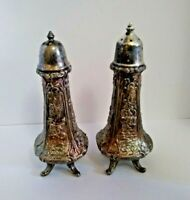 VINTAGE WB MFG CO SILVER PLATED SALT & PEPPER SHAKERS
