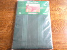 "Trim A Home SATIN STRIPE 100% Polyester HUNTER GREEN Tablecloth 70"" ROUND~~NIP!!"